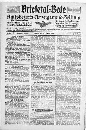 Briesetal-Bote vom 24.02.1925