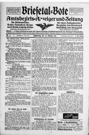 Briesetal-Bote vom 26.02.1925