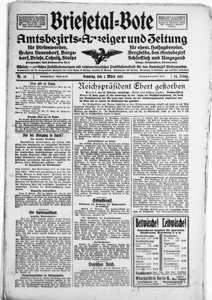 Briesetal-Bote vom 01.03.1925