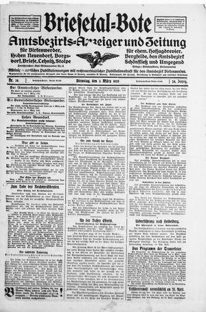 Briesetal-Bote vom 03.03.1925