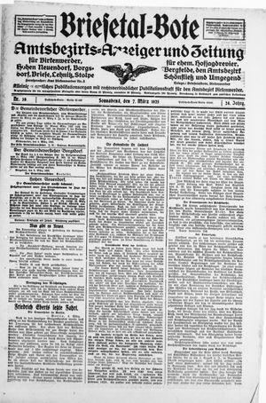 Briesetal-Bote vom 07.03.1925