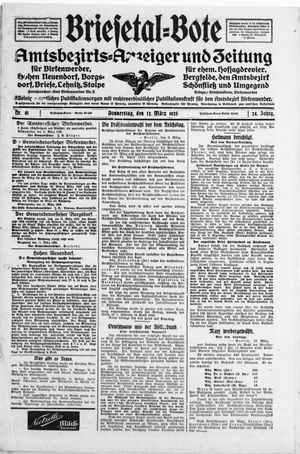 Briesetal-Bote vom 12.03.1925