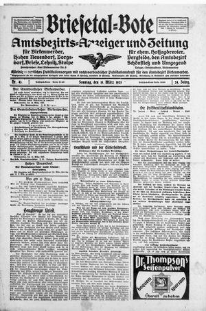 Briesetal-Bote vom 15.03.1925