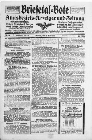 Briesetal-Bote on Mar 17, 1925