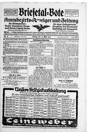Briesetal-Bote vom 22.03.1925