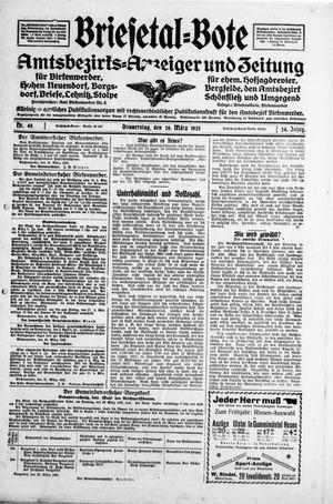 Briesetal-Bote vom 26.03.1925