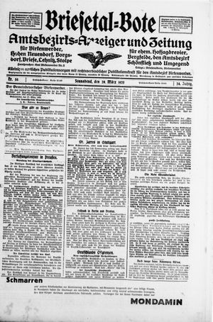 Briesetal-Bote vom 28.03.1925