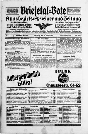 Briesetal-Bote vom 31.03.1925