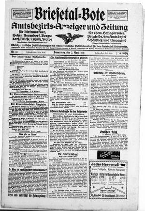 Briesetal-Bote vom 02.04.1925