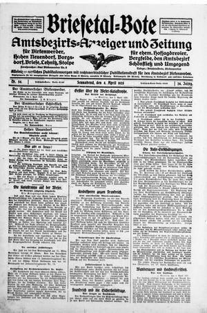 Briesetal-Bote on Apr 4, 1925