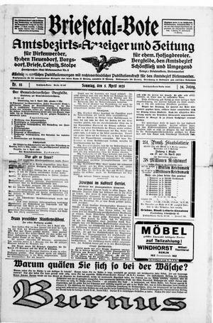 Briesetal-Bote on Apr 5, 1925