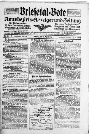 Briesetal-Bote vom 07.04.1925