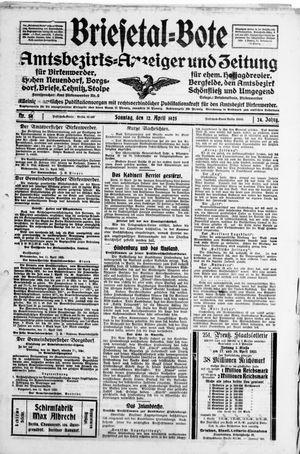 Briesetal-Bote vom 12.04.1925