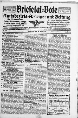 Briesetal-Bote vom 16.04.1925