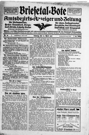 Briesetal-Bote vom 19.04.1925
