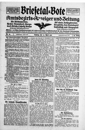Briesetal-Bote on Apr 26, 1925