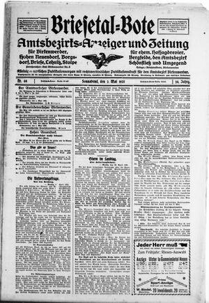 Briesetal-Bote vom 02.05.1925