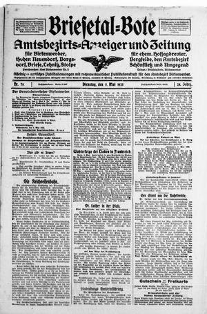 Briesetal-Bote vom 05.05.1925