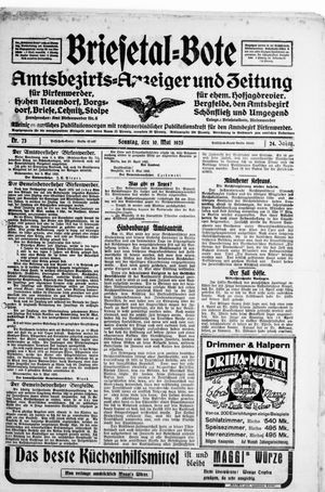 Briesetal-Bote vom 10.05.1925