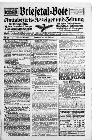 Briesetal-Bote vom 16.05.1925