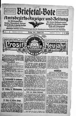 Briesetal-Bote vom 01.01.1926