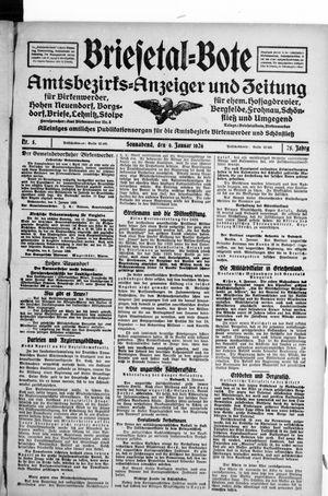 Briesetal-Bote vom 09.01.1926