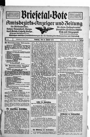 Briesetal-Bote vom 10.01.1926