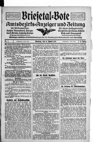 Briesetal-Bote vom 12.01.1926