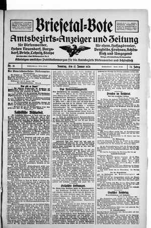 Briesetal-Bote vom 17.01.1926