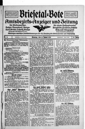 Briesetal-Bote vom 19.01.1926