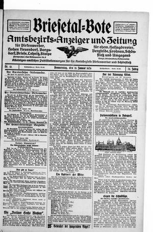 Briesetal-Bote vom 21.01.1926