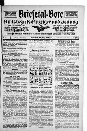 Briesetal-Bote vom 23.01.1926