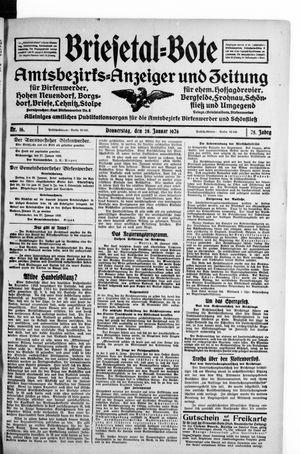Briesetal-Bote vom 28.01.1926