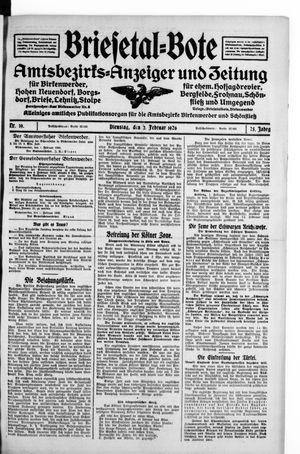 Briesetal-Bote vom 02.02.1926