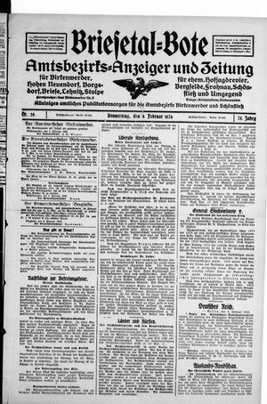 Briesetal-Bote vom 04.02.1926