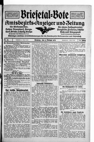 Briesetal-Bote on Feb 9, 1926