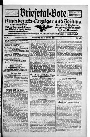 Briesetal-Bote on Feb 11, 1926