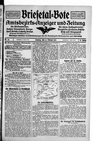 Briesetal-Bote vom 14.02.1926
