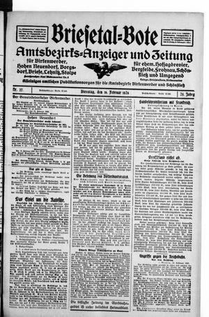 Briesetal-Bote vom 16.02.1926