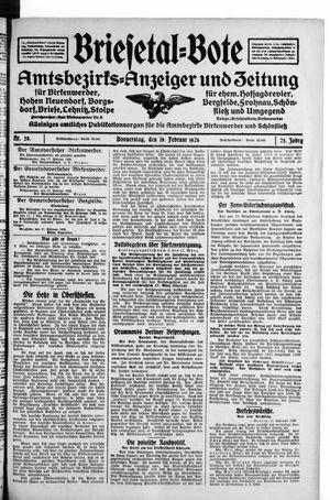 Briesetal-Bote vom 18.02.1926