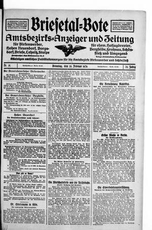 Briesetal-Bote vom 23.02.1926