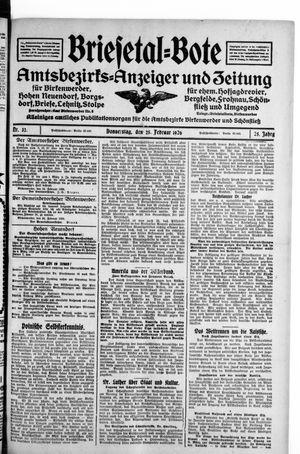 Briesetal-Bote vom 25.02.1926