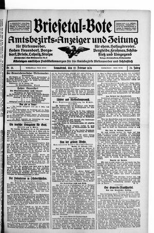 Briesetal-Bote on Feb 27, 1926