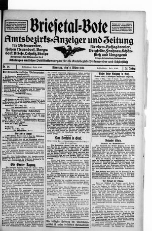 Briesetal-Bote vom 09.03.1926