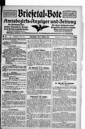 Briesetal-Bote vom 13.03.1926