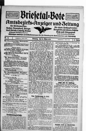 Briesetal-Bote on Mar 16, 1926
