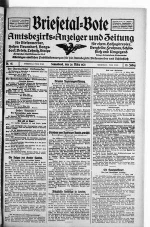 Briesetal-Bote vom 20.03.1926