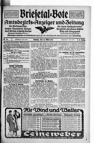 Briesetal-Bote vom 21.03.1926