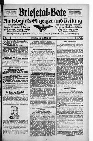 Briesetal-Bote on Mar 30, 1926