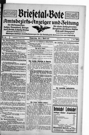 Briesetal-Bote vom 01.04.1926